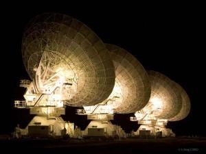 Australia Compact Telescope Array at Night.