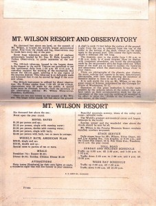 Mount Wilson and Observatory Tourist Description
