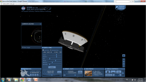 Screen shot, Eyes on the Solar System, current and projected position of Mars Science Laboratory