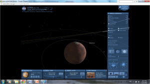 Screen shot of Mars, normal view, Eyes on the Solar System