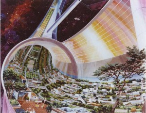 Cutaway view of Toroidal Space Colony