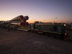 Soyuz Rocket Rollout, 21 October 2012. Photo credit: NASA/Bill Ingalls