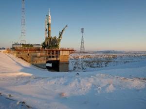 Soyuz TMA-03M at the Launch Pad, 11 December 2011. Photo credit: NASA/Carla Cioffi