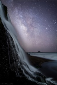 Alamere Falls and the Milky Way. Photo credit: Rick Whitacre