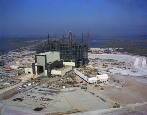 VAB under construction, November 1964. Image credit: NASA/KSC