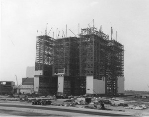 VAB under construction, c. 1965. Image credit: NASA