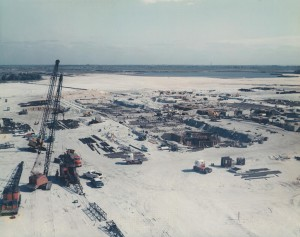 VAB under construction, January 14, 1964. Photo credit: NASA/KSC