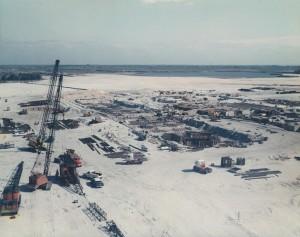 VAB under construction, January 14, 1964. Photo credit: NASA/KSC