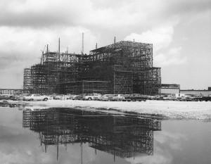 VAB under construction, August 14, 1964. Photo credit: NASA/KSC