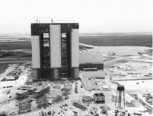 VAB under construction, June 9, 1965. Photo credit: NASA/KSC