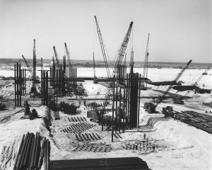 VAB under construction, October 22, 1963. Photo credit: NASA/KSC