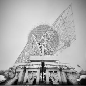 Drive Wheels, Byrd Telescope (Pinhole Photograph), July 7, 2009. Photograph by Scott Speck