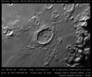 Taruntius Crater (with Cameron Crater). Courtesy LPOD.